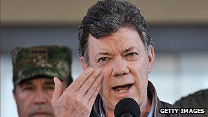 Colombian President Juan Manuel Santos