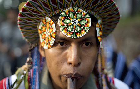 Member of the Inga ethnic group participates in a Festival of the Sun