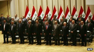 Iraqi national unity government is sworn in (21 December 2010)