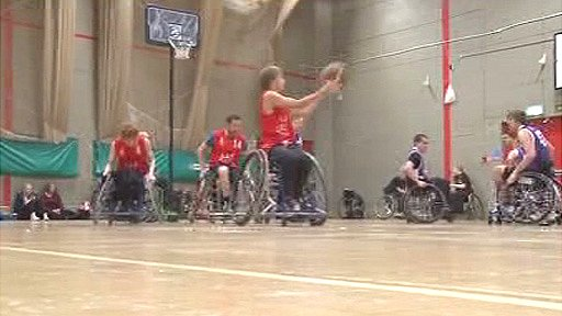 Wheelchair basketball in Colwyn Bay