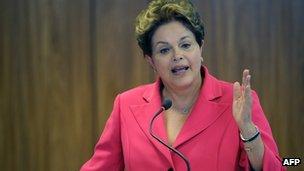 President Dilma Rousseff - file photo