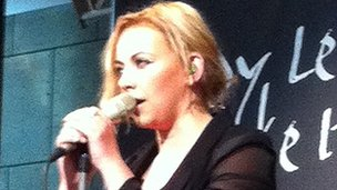 Charlotte Church performed at the Wales Millennium Centre