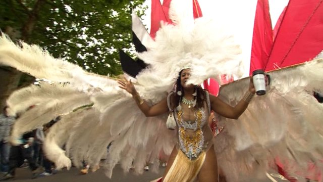Dancer at Notting Hill Carnival