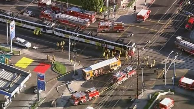 Los Angeles bus crash