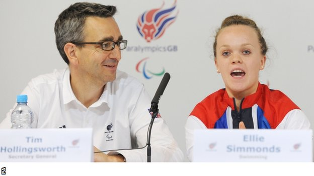 Tim Hollingsworth and Ellie Simmonds