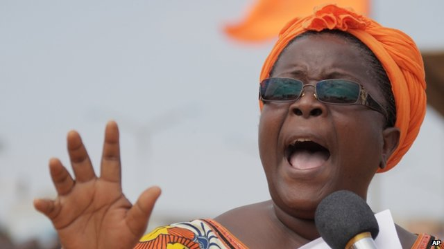 Female opposition leader Isabelle Ameganvi calls on Togo's women to observe a one-week sex strike