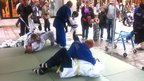 Martial arts demonstration in Cardiff city centre