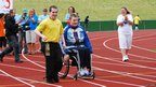Disability sports teams in Colwyn Bay. Photo: Matt Cripps