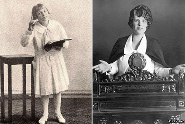 Uldine Utley (l) and Aimee Semple McPherson (r)