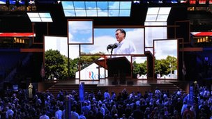 The opening of the Republican National Convention, Tampa, Florida 27 August 2012