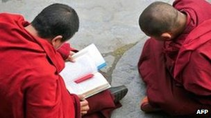 Tibetans monks in Sichuan province (file image)