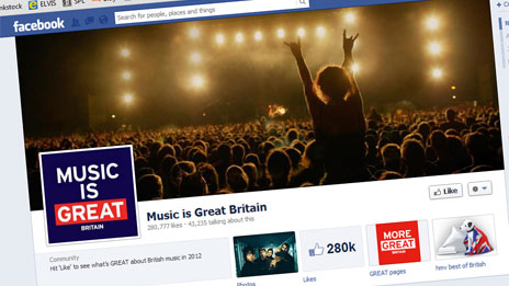 Great Britain campaign&#039;s Music is GREAT page