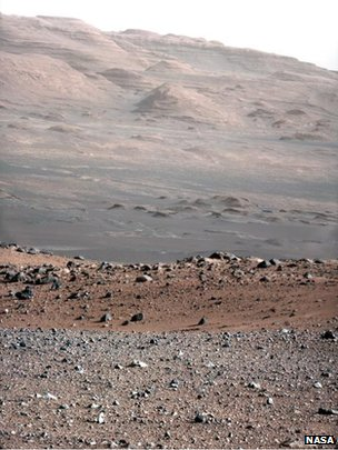 100mm telephoto image from Curiosity rover