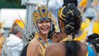 Performers prepares for Notting Hill Carnival