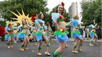 Performers take part in Notting Hill Carnival