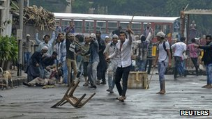 A Muslim protest in Mumbai turned violence on 11 August