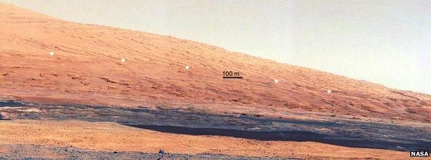 Mastcam image of Mount Sharp foothills