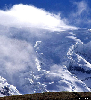 Glaciers on the Chimborazo volcano