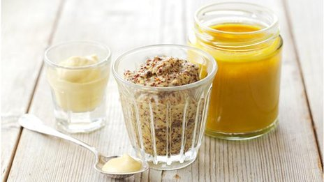 Jars of mustard