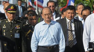 File photo: Burmese President Thein Sein