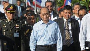 File photo: Burmese President Thein Sein