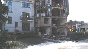 Collapsed house