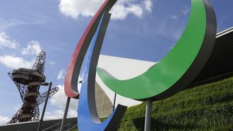 The Agitos, the current symbol of the Paralympic Games