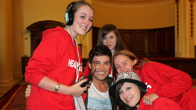 The School Reporters with X Factor star Joe McElderry