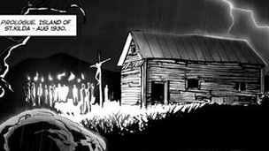 Panel from BlackHearted Press comic