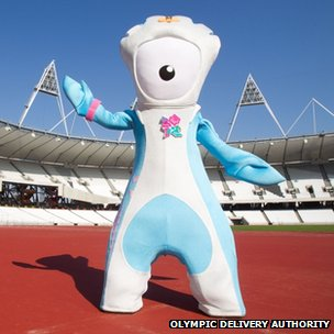 London 2012 mascot Mandeville