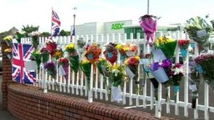 Tributes at Asda