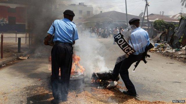 Police in Mombasa