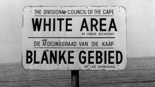 Sign saying white area