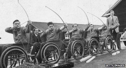 Wheelchair archers