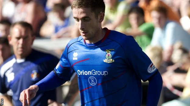 Inverness midfielder Nick Ross