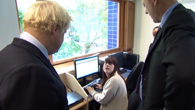 Boris Johnson in office