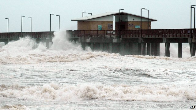 Hurricane Isaac hits land