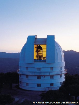 Otto Struve telescope at McDonald Observatory