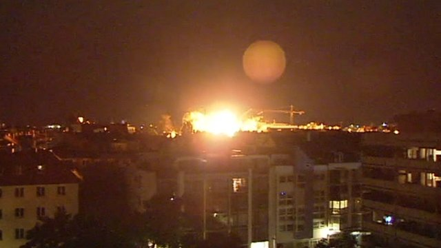 Explosion seen over Munich skyline