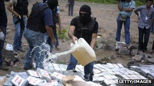Police destroy drugs haul in Tegucigalpa