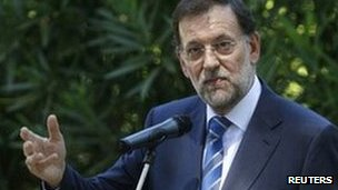 Mariano Rajoy has said he would consider asking for help from the ECB
