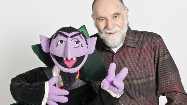 Puppeteer Jerry Nelson and Count von Count
