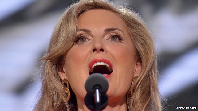 Ann Romney addresses the Republican party convention in Tampa, Florida