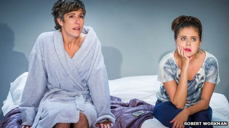 Tamsin Greig (Hilary), Bel Powley (Tilly). Credit - Robert Workman
