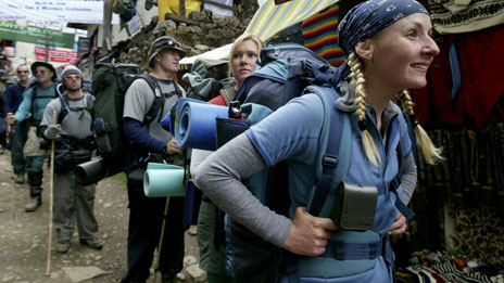 Trekkers at Namche Bazar (2003)