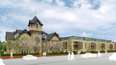 Computer generated image of the Barnton Hotel development