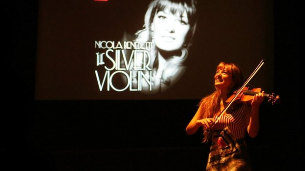 Violinist Nicola Benedetti launches her new album The Silver Violin