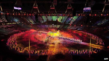 General view taken during the opening ceremony of the London 2012 Paralympic Games