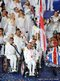 Wheelchair tennis player Peter Norfolk of Great Britain carries the flag during the Opening Ceremony 