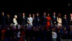 Prince Edward, Earl of Wessex, Sophie, Countess of Wessex, LOCOG chairman Lord Sebastian Coe, British Prime Minister David Cameron,Samantha Cameron, Prince William, Duke of Cambridge, Catherine, Duchess of Cambridge, Princess Anne, Princess Royal and London Mayor Boris Johnson stand for Queen Elizabeth II